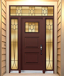 Steel Doors - Decorative Glass