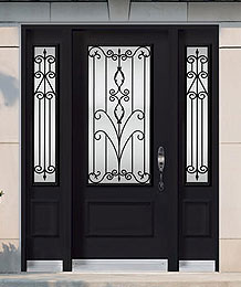 Steel Doors - Wrought Iron